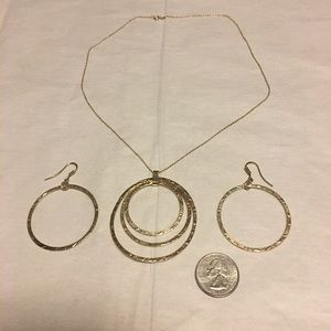 Jewelry - Gold Overlay Sterling Set